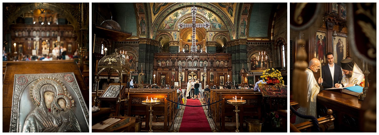 A Greek Orthodox Christening at St Sophia's Moscow Road, Bayswater, London
