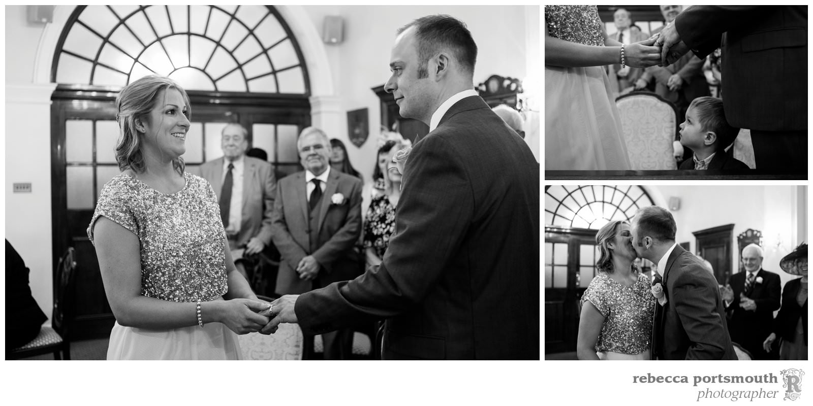 The Chelsea Registry Office wedding photos of Victoria + Dominic: - the moment they are pronounced man and wife!