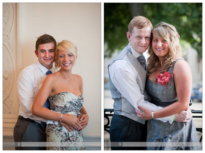 Summer Trafalgar Tavern wedding portraits of young guests and couples