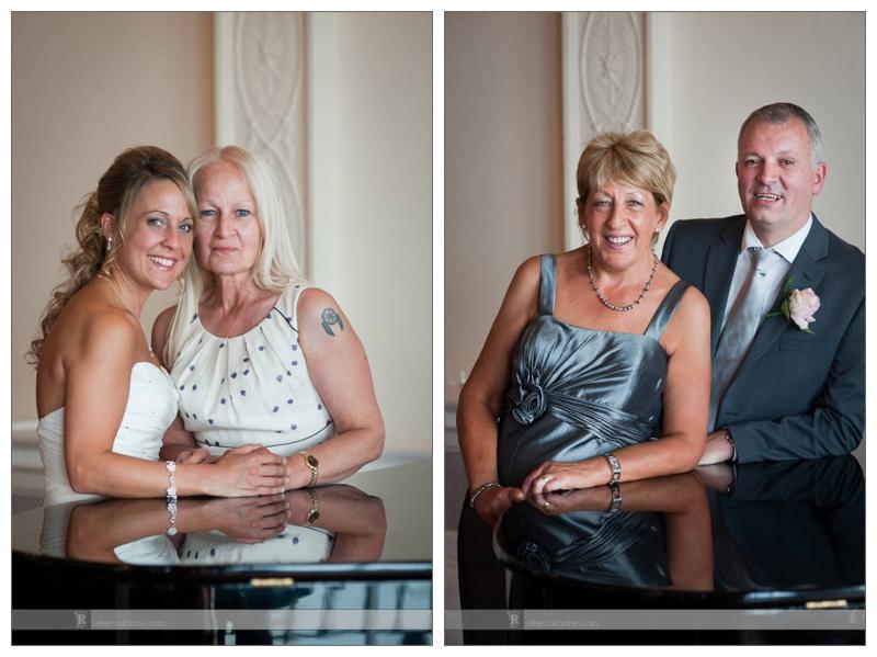 Summer Trafalgar Tavern wedding portraits of guests and family