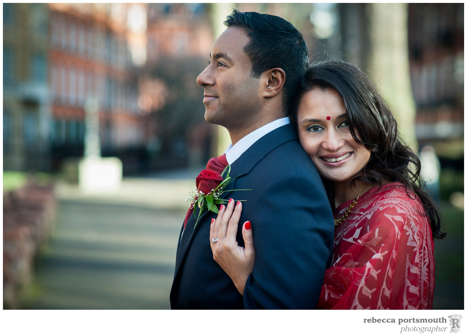 The Mount Street Gardens wedding photographs of Tas + Ravi after their Mayfair Library civil wedding ceremony.