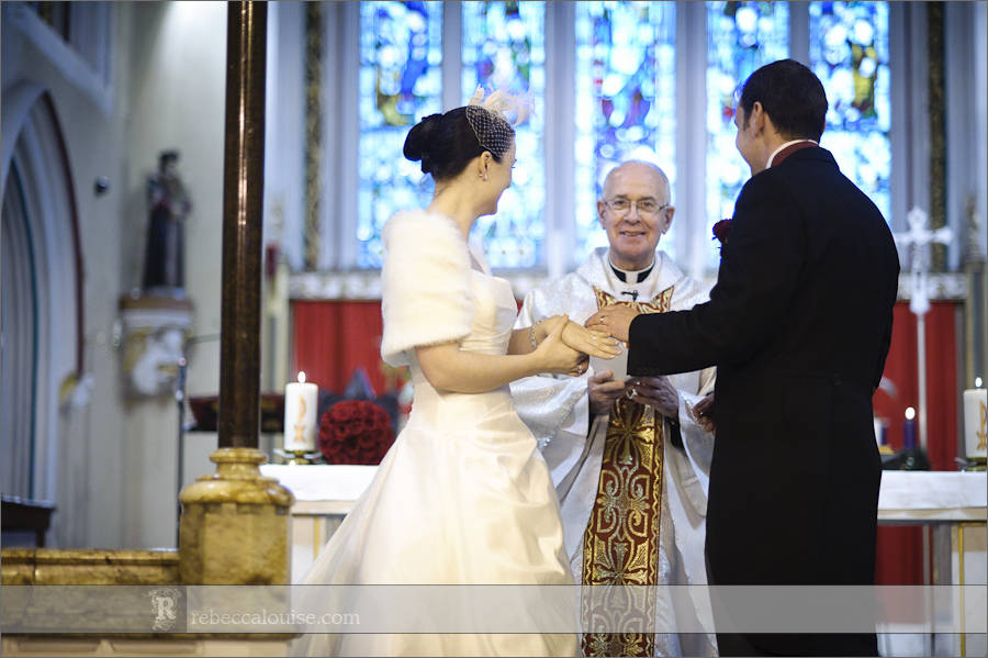 The Our Ladye Star of the Sea wedding ceremony of Louise and Charlie by Greenwich photographer Rebecca Portsmouth